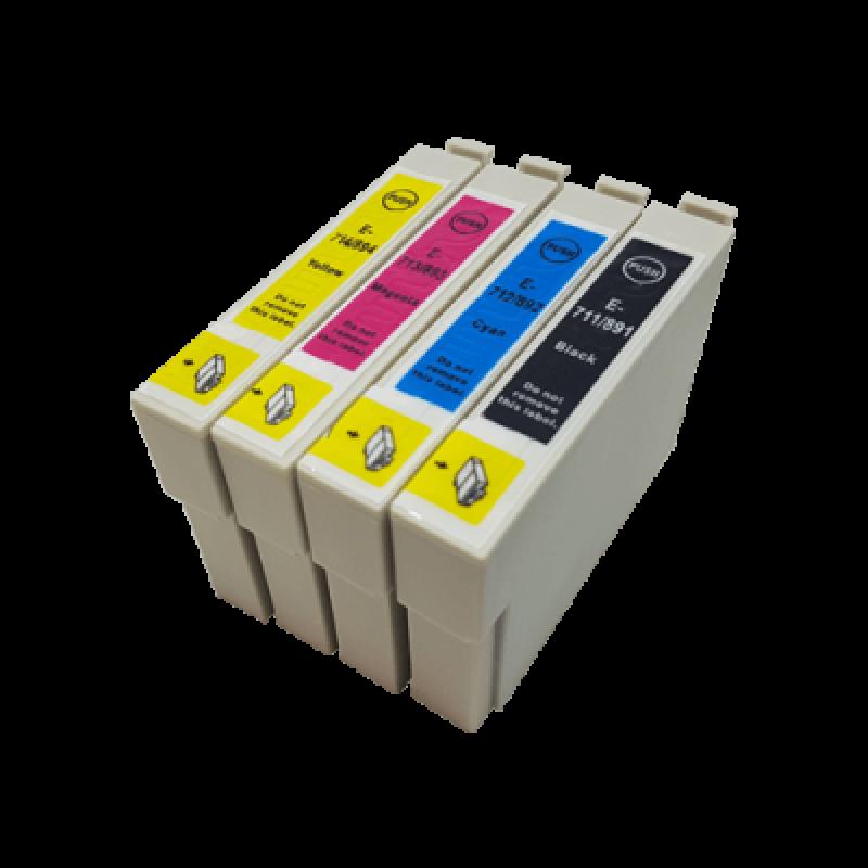 Lot Compatible Ink Cartridges Epson Non-Oem T0711 T0712 T0713 T0714 T0715