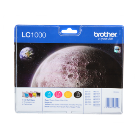 Brother LC1000 Ink Cartridge Pack - 4 Inks