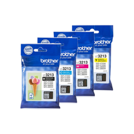 Brother LC3213 Multipack Ink Cartridges BK/C/M/Y Original High Capacity
