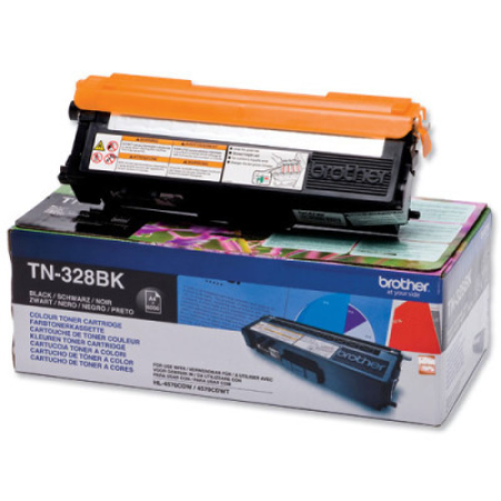 Brother TN328BK Black High Capacity Toner Cartridge