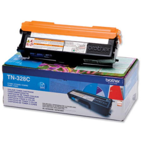 Brother TN328C Cyan High Capacity Toner Cartridge