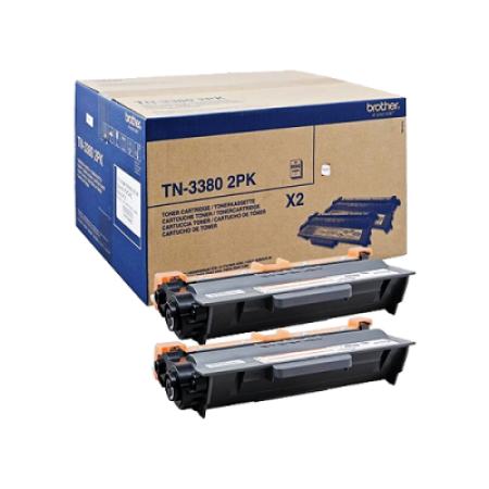 Brother TN3380 High Capacity Black Toner Cartridge TWIN PACK
