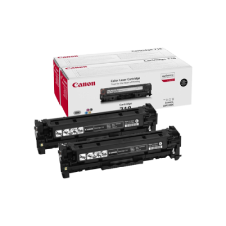Canon 718 Toner Cartridge Black Twin Pack - 2662B005AA Original