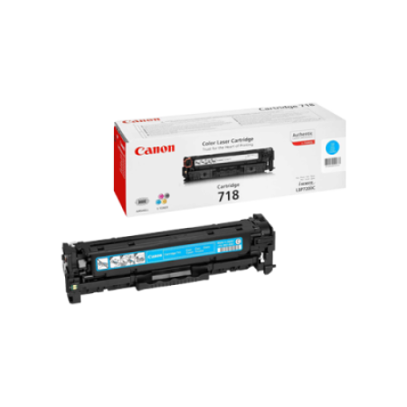 Canon 718 Toner Cartridge Cyan Original
