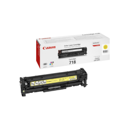 Canon 718 Toner Cartridge Yellow Original