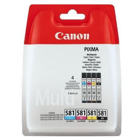 Canon CLI-581 Ink Cartridge Colour Multipack BK/C/M/Y