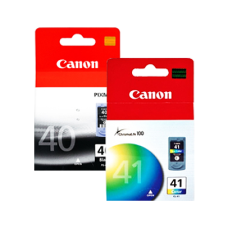 Canon PG-40 + CL-41 Black + Colour Original Ink Cartridge Multipack