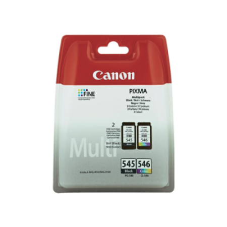 Canon PG-545/CL-546 Ink Cartridge Black + Colour TWIN Multipack Original