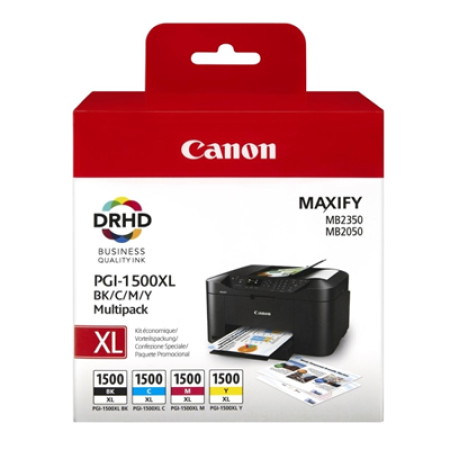 Canon PGI-1500XL Multipack Ink Cartridges BK/C/M/Y Original