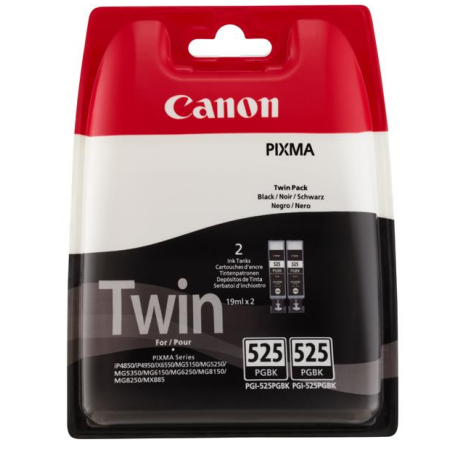 Canon PGI-525 Ink Cartridge Black TWIN PACK Original