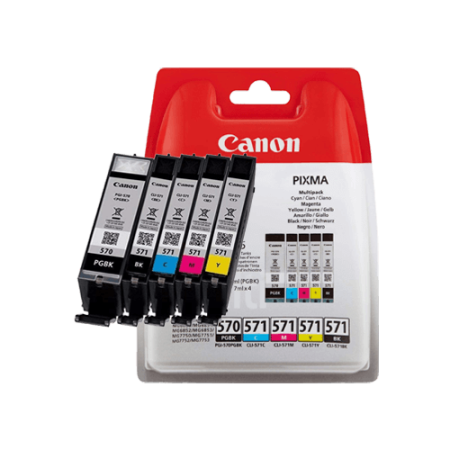 Canon PGI-570 + CLI-571 Multipack Ink Cartridges BK/C/M/Y/PB Original