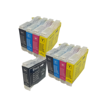 Compatible Brother LC1000 Ink Cartridge TWIN PACK + Free Black - 9 Inks