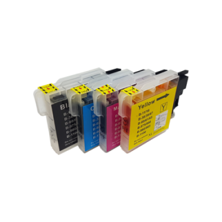 Compatible Brother LC1100 Multipack Ink Cartridges BK/C/M/Y
