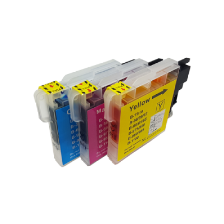Compatible Brother LC1100 Ink Colour Multipack C/M/Y