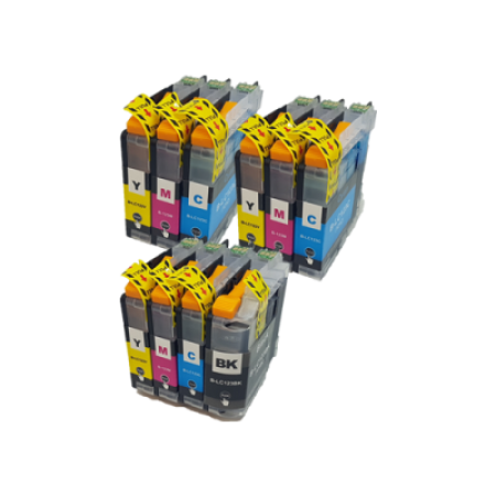 Compatible Brother LC123 Ink Cartridge Colour Mixed Multipack - 10 Inks