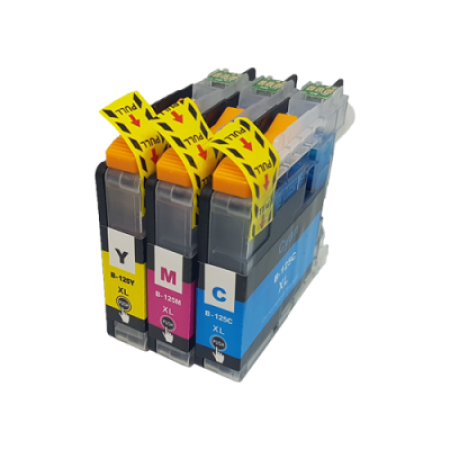 Compatible Brother LC125XL Ink Cartridge Colour Triple Pack C/M/Y