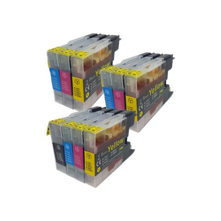 Compatible Brother LC1280 XL Ink Cartridge Colour MIXED PACK - 10 Inks