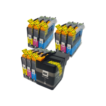 Compatible Brother LC129XXL/LC125 XL Ink Colour Mixed Multipack - 10 Inks