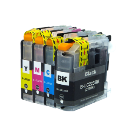Compatible Brother LC223 Multipack Ink Cartridges BK/C/M/Y