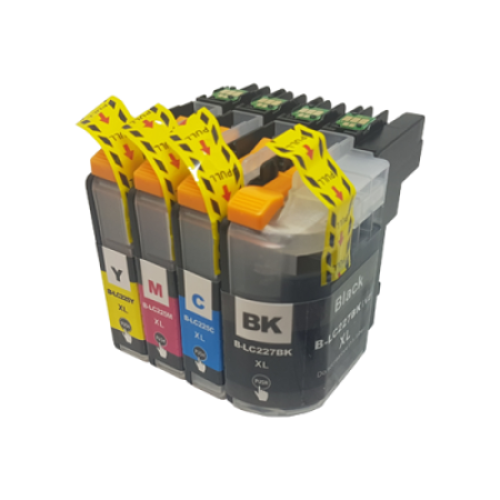 Compatible Brother LC227/LC225XL Multipack Ink Cartridges BK/C/M/Y