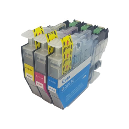 Compatible Brother LC3213 Ink Cartridge Colour Triple Pack C/M/Y High Capacity