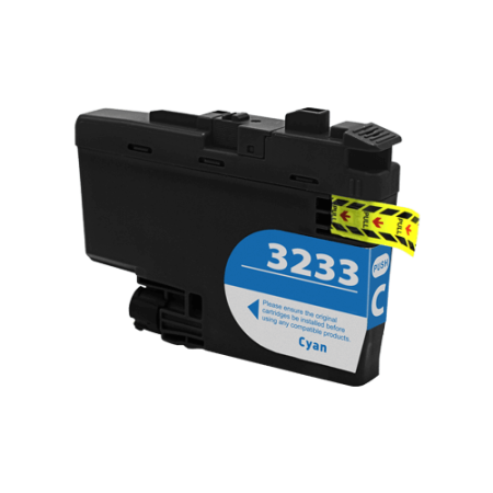 Compatible Brother LC3233 Cyan Ink Cartridge