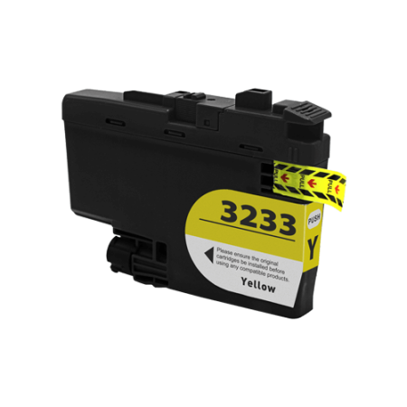 Compatible Brother LC3233 Yellow Ink Cartridge