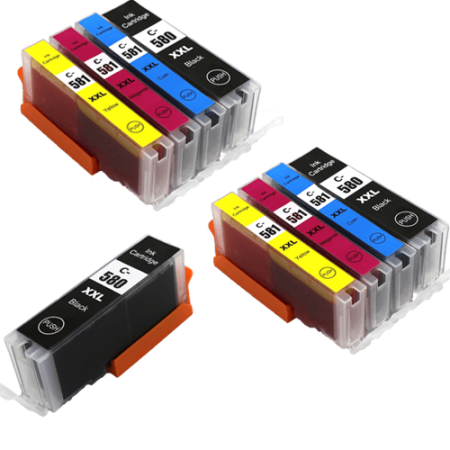 Compatible Canon 580 581 XXL Ink Cartridge TWIN Multipack