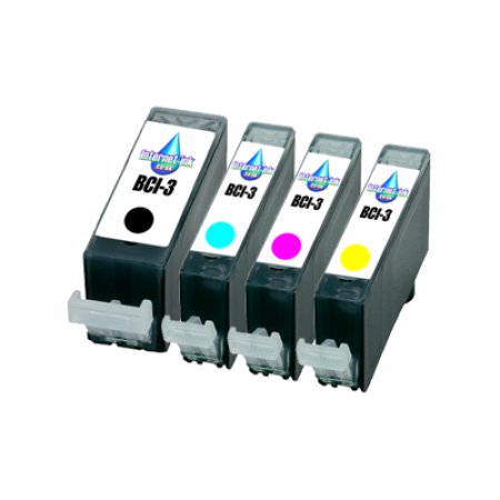 Compatible Canon BCI-3 Complete Ink Pack - 4 Inks