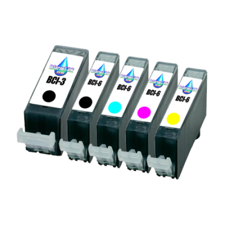 Compatible Canon BCI-6 4 Ink Pack With BCI-3 Black - 5 Inks