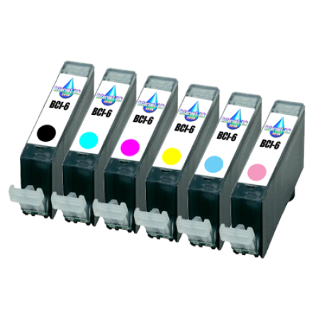 Compatible Canon BCI-6 Photo Ink Pack - 6 Inks (no red or green)