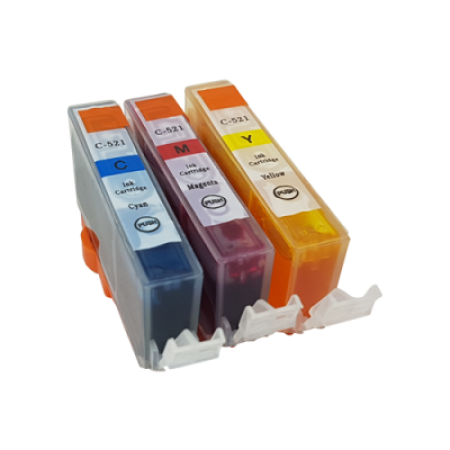 Compatible Canon CLI-521 Ink Colour Pack - 3 Inks