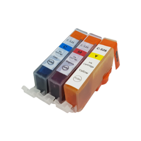 Compatible Canon CLI-526 Colour Ink Multipack C/M/Y