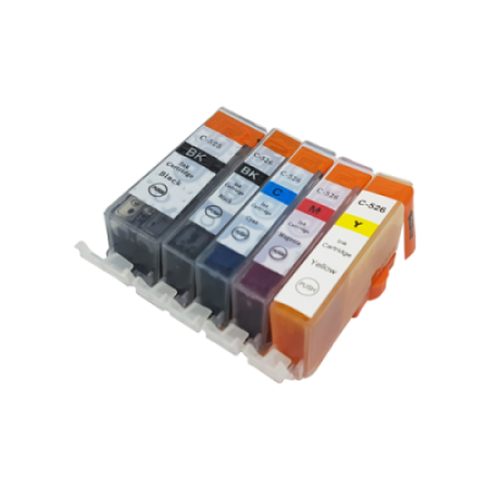 Compatible Canon CLI-526 Ink Cartridge Multipack + PGI-525 BK/C/M/Y/PB