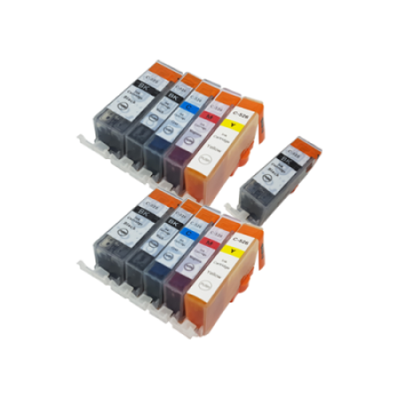 Compatible Canon CLI-526 PGI-525 TWIN PACK + Free PGI525 - 11 Inks