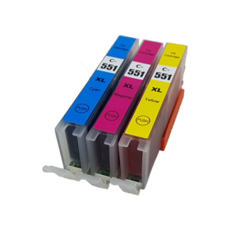 Compatible Canon CLI-551XL Ink Cartridge Colour Pack - 3 Inks
