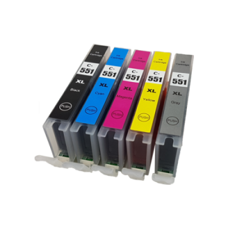 Compatible Canon CLI-551XL Ink Cartridge Colour Pack - 5 Inks
