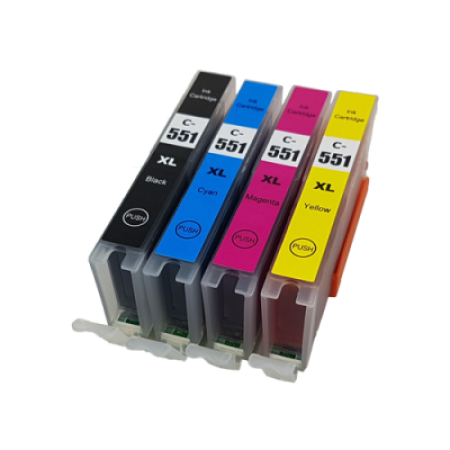 Compatible Canon CLI-551XL Ink Cartridge Colour Pack (No Grey) - 4 Inks