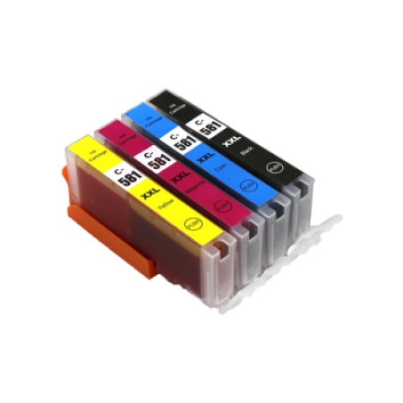 Compatible Canon CLI-581 XXL Extra High Capacity Ink Colour Multipack - 4 Inks