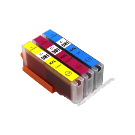Compatible Canon CLI-581XXL Extra High Capacity Ink Colour Multipack C/M/Y