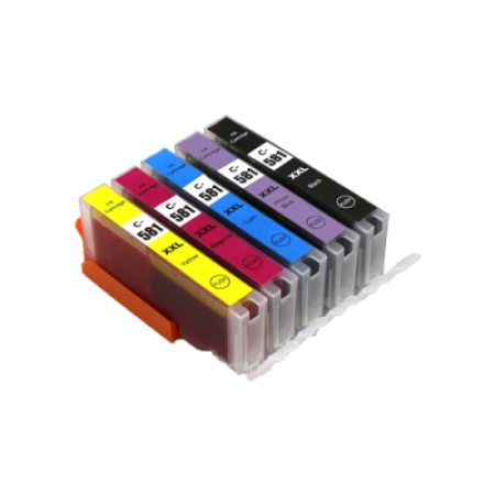 Compatible Canon CLI-581XXL Ink Colour Multipack - 5 Inks