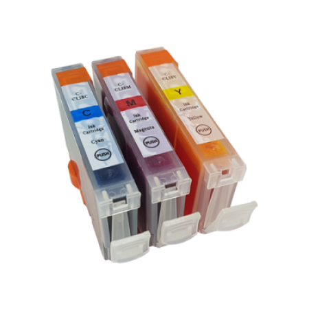 Compatible Canon CLI-8 Ink Cartridge Colour Multipack C/M/Y