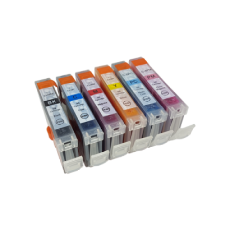 Compatible Canon CLI-8 Multipack Photo Ink Cartridges BK/C/M/Y/LC/LM