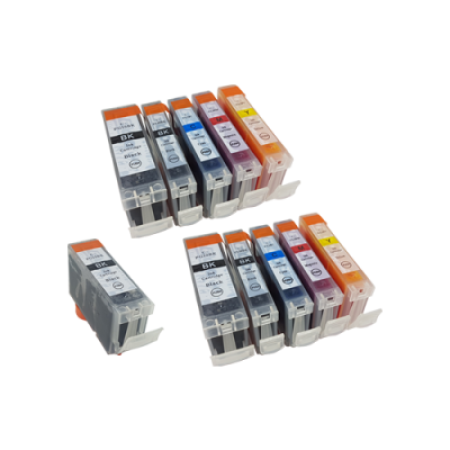 Compatible Canon CLI-8 PGI-5 Ink Cartridge TWIN Multipack + FREE PGI-5 - 11 Inks
