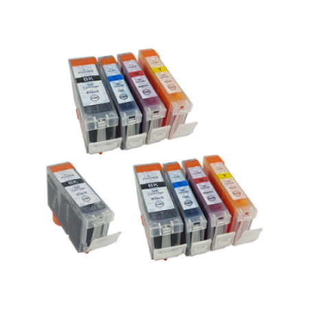 Compatible Canon CLI-8 PGI-5 Ink Cartridge TWIN Multipack + Free PGI-5 (No Photo Black) - 9 Inks