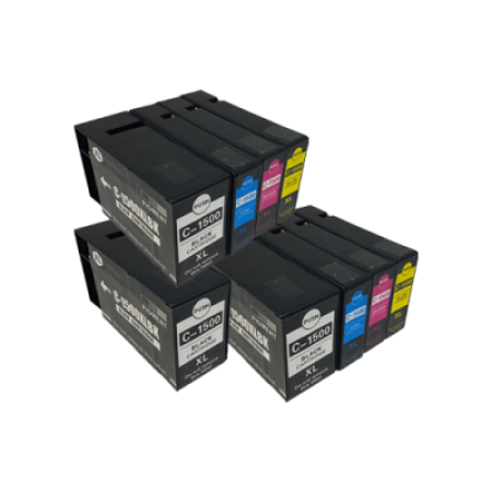 Compatible Canon PGI-1500XL Ink Cartridge TWIN PACK + 1 Free Black - 9 Inks