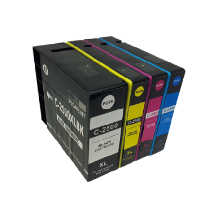 Compatible Canon PGI-2500XL Ink Complete Multipack - 4 Inks