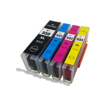 Compatible Canon PGI-550XL CLI-551XL Ink Cartridge Multipack - 4 Inks