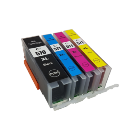 Compatible Canon PGI-570XL CLI-571XL Ink Cartridge Multipack BK/C/M/Y