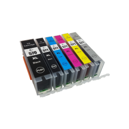Compatible Canon PGI-570XL CLI-571XL Ink Cartridge Multipack - 6 Inks